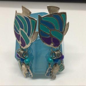 Jewelry - Aqua Fish Earrings
